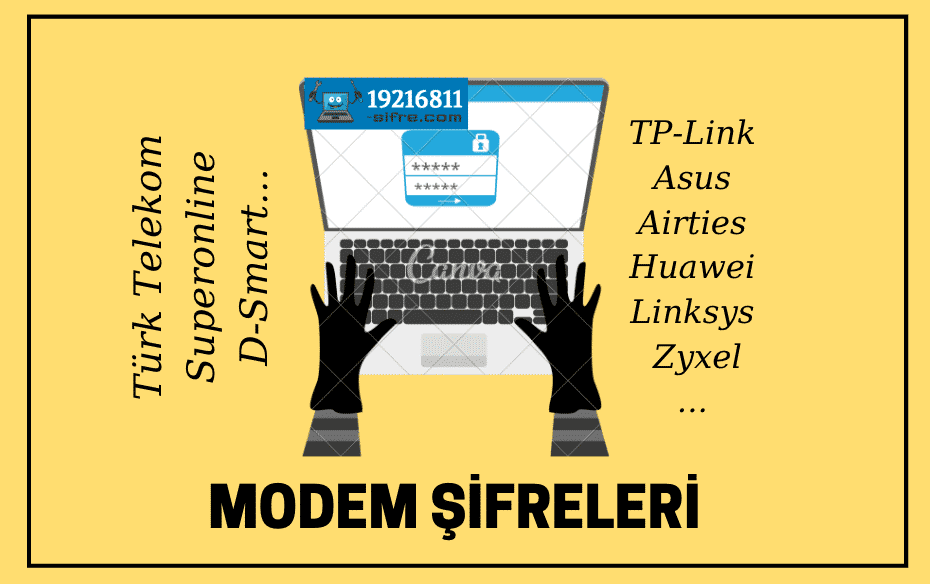 modem şifreleri