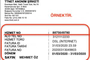 Türk Telekom Hizmet No