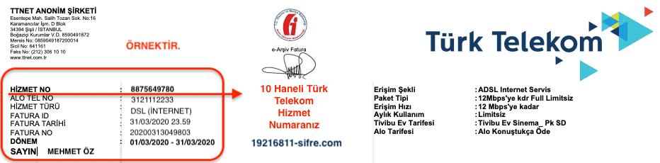 Türk Telekom Hizmet Numarası